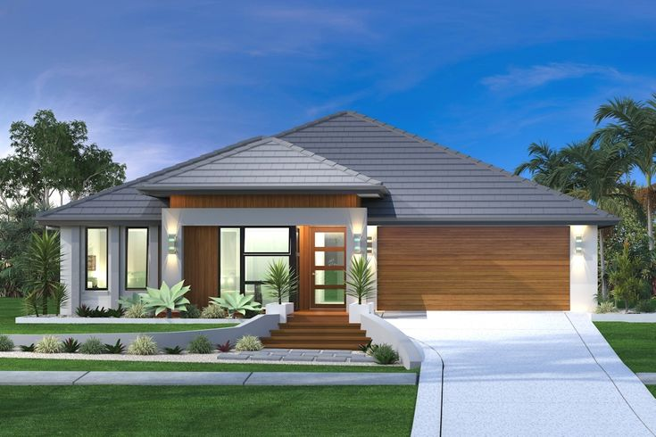 Beachlands 206 exterior design executive fa ade 4 for Exterior design of 2 storey house