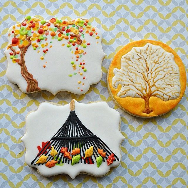 Leaf Tree Cookies | Mama Mayer Bakery