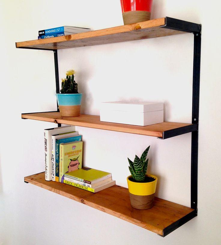 Great shelf system   Home   Pinterest   Bois metal, Bois ...