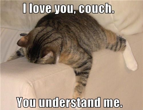 i feel as though if you have a good couch.... you can relate to this statement. lol