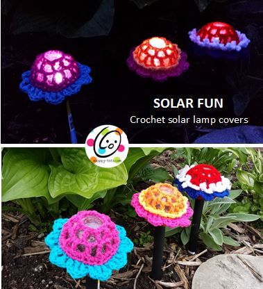 Last year, for Mother's Day, I wanted something fun and unique to make for my mom. She has a lot of solar lamps in her yard so I bought a few new ones and made flower covers. These whip up quickly. They just slip over the round lamp (different styles coming soon).  Since Teacher Appreciation