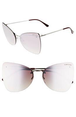 e269fab463808 TOM FORD Designer Presley 61mm Butterfly Sunglasses
