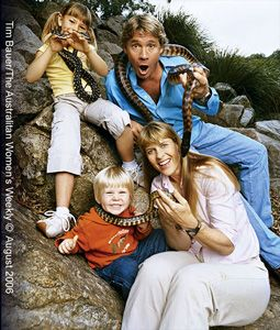 The Irwin Family (Steve, Terri, Bindi, Robert) <3   i miss him