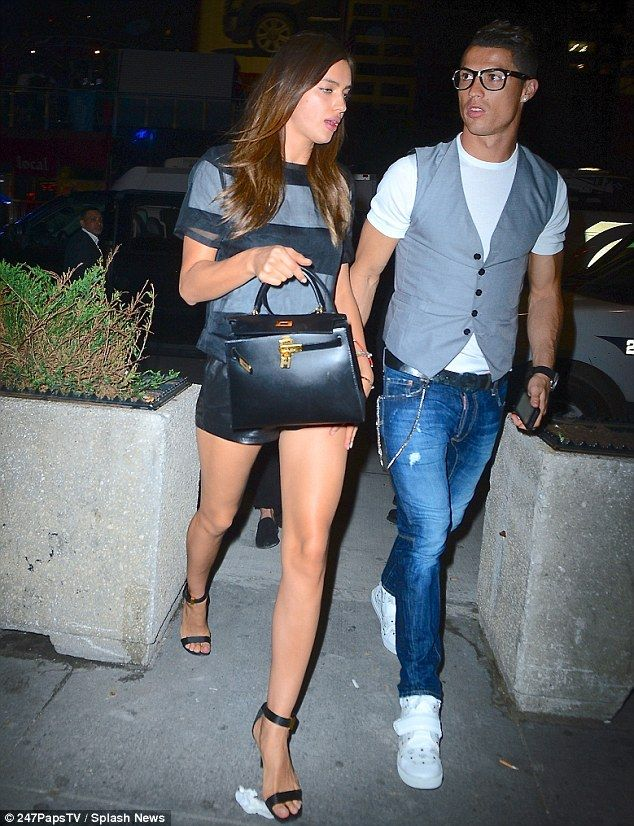 Stepping out: Cristiano Ronaldo and Irina Shayk enjoy a night out in New York City on Saturday evening