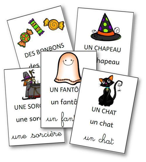 French Halloween Flashcards: référentiel Halloween