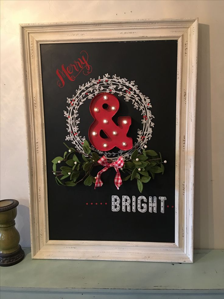 Merry & Bright Chalkboard, created by Designer Brenda Durrant. For more info or to join my team. https://m.facebook.com/brendachalkcouture/