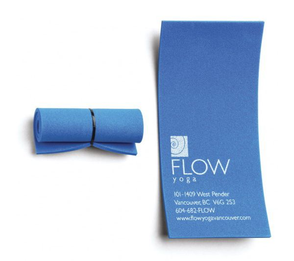 Flow Yoga's Creative Business Card