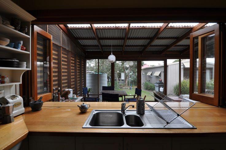 kitchen/servery/screened deck