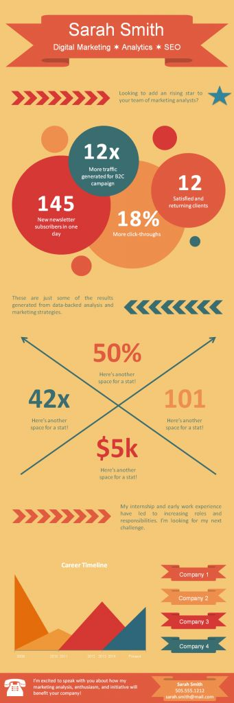 1222 best Infographic Visual Resumes images on Pinterest - infographic resume