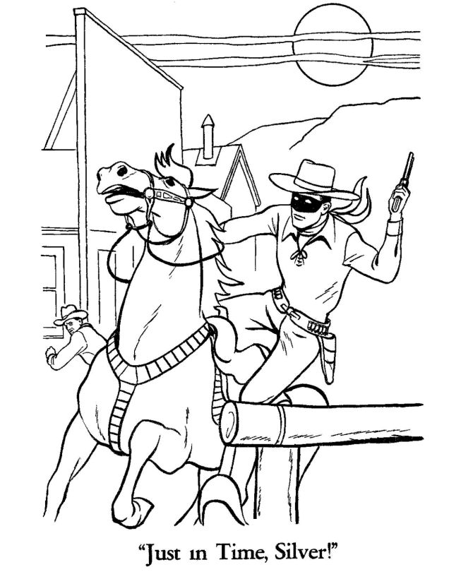 The Lone Ranger And Tonto Coloring Page Sheets