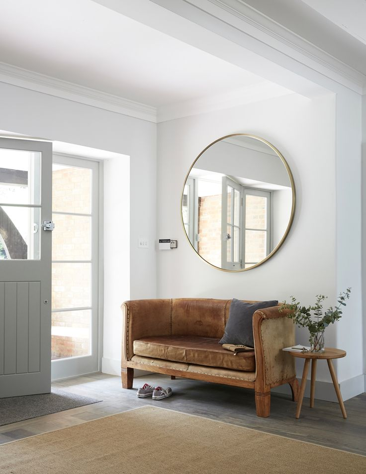 posted by bs9interiordesign.com from Living Etc. : Laura Ashley sell a similar mirror, or try Holly's House. The Havana leather sofa at Rose & Grey is similar. This is the Pippy oak side table by Galvin Brothers.