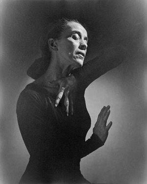 Martha Graham, una de las grandes mujeres de la danza moderna - Martha Graham, 1948 Foto de Yousuf Karsh