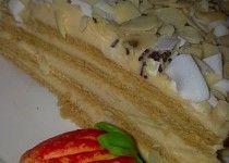 Medové řezy  s karamelovým krémem
