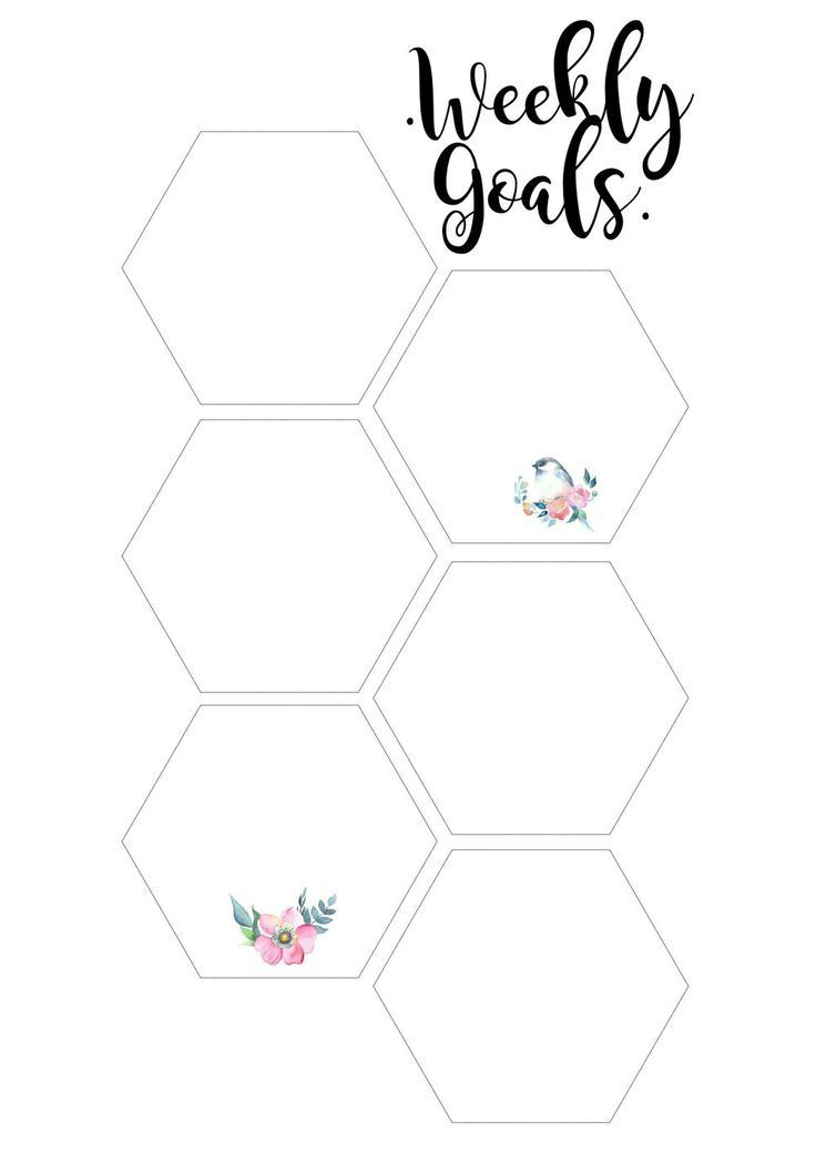 Weekly Goals To Do List For Your Planner Goals Printable