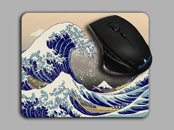 Mouse Pad,Office Decor,The Great Wave off Kanagawa,Ocean mousepad,Desk Decor,computer accessories, MP-203