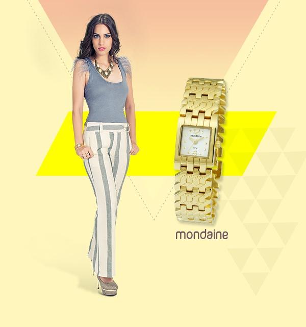 Um relógio feminino e discreto, pronto para as festas mais elegantes. Ref: 94488LPMTDB2