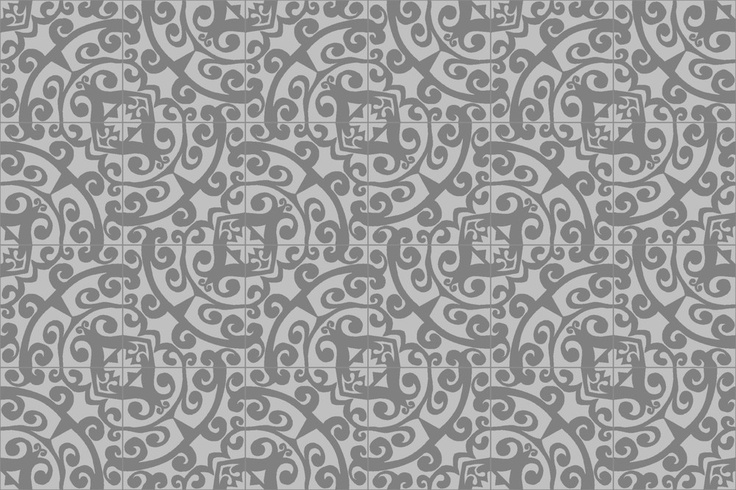 Avenida Cement Tile in a Half Turned 6 x 4 Tile Layout