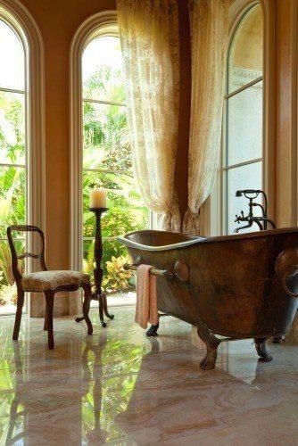 free standing copper bath - beautiful bathroom #heirloomheaven