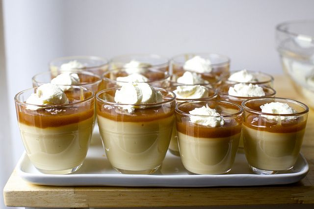 luxe butterscotch pudding with salted caramel