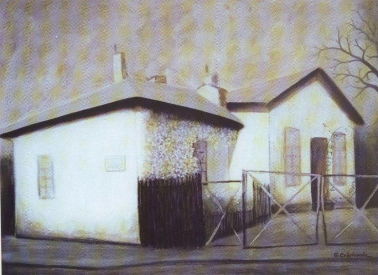 George Crăciunoiu - Amintiri despre Craiova - painting in full format at www.iCraiova.com