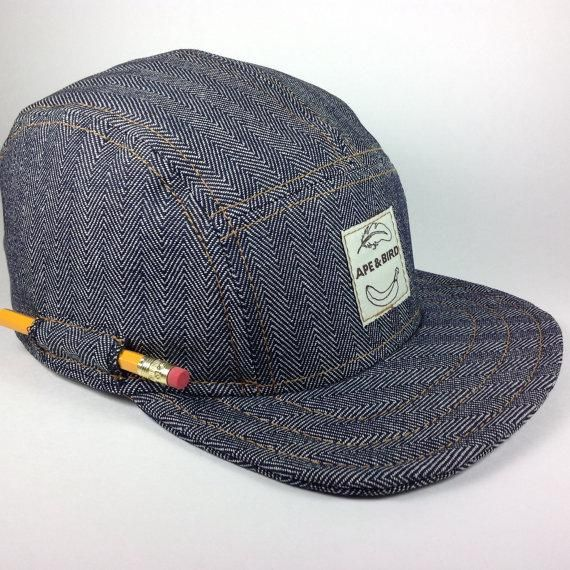 9ac62799afef5 Handmade 5 panel hat baseball snapback trucker denim made in usa mens hat  gifts for him gifts under 50 black hat pencil pocket cap | Gifts for Him ...