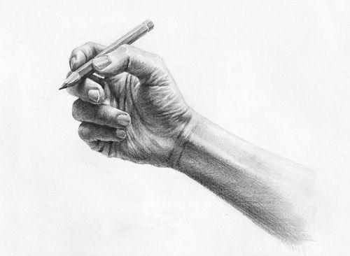 달동네 그림연구실 :: [인체소묘]색연필을 쥔 손 과정작