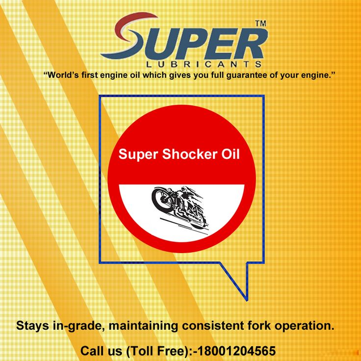 SuperShockerOil for use in motorcycle forks and shocks