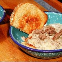 Frank's Famous Sausage Gravy: Store Biscuits, Famous Baking, Nasty Grocery, Grocery Store, Franks Famous, Famous Sausage, Real Biscuits, Baking Powder Biscuits, Sausage Gravy