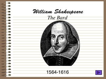 Introduction to William Shakespeare ppt. Use to introduce any Shakespeare unit.