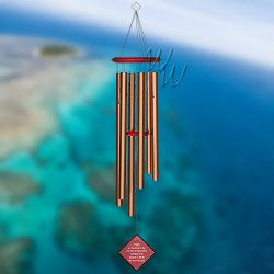 """Woodstock Percussion 37"""" Chimes of Earth Wind Chime - Bronze"""