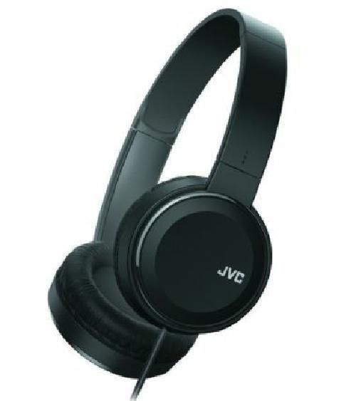 JVC Colorful Sound Black Stereo Headphones with Remote and Mic for Smartphone #JVC #StereoOvertheHeadHeadbandHeadphones