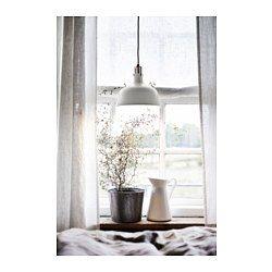 Perfect addition for kitchen island  RANARP Pendant lamp, off-white - off-white - IKEA