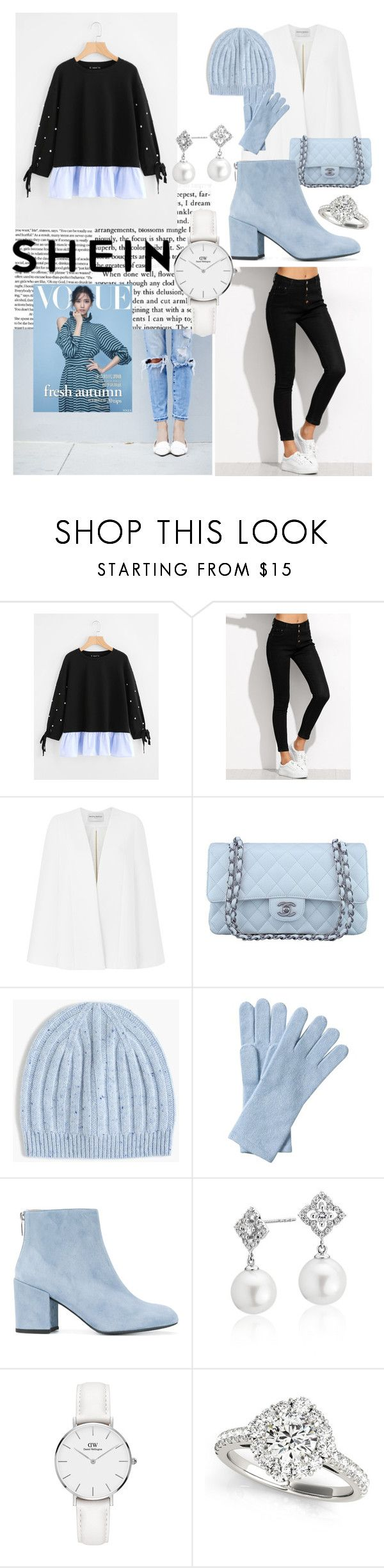 """Untitled #60"" by alicesandberg ❤ liked on Polyvore featuring Amanda Wakeley, Chanel, J.Crew, Pure Collection, Stuart Weitzman, Blue Nile, Daniel Wellington and Allurez"