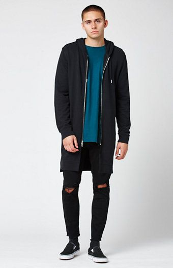 Canopy Extended Length Zip Hoodie | PacSun