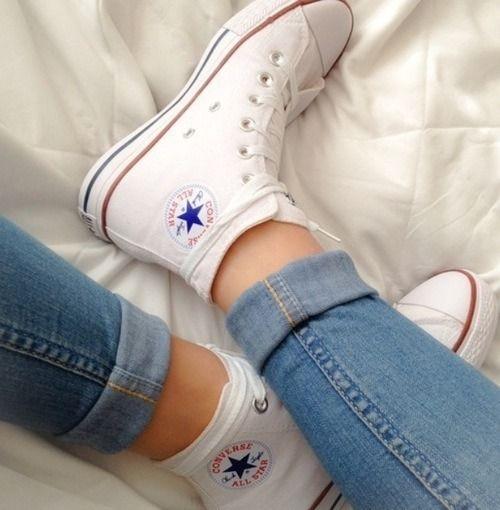 converse / white / high cut