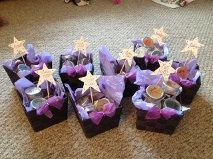 I made these very inexspensively for my scentsy parties. Each scent category has their own basket, which makes it easier to pass around the samples!