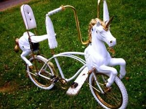 Unicorn bike - for sale on Craigslist.  Gotta love Portland.