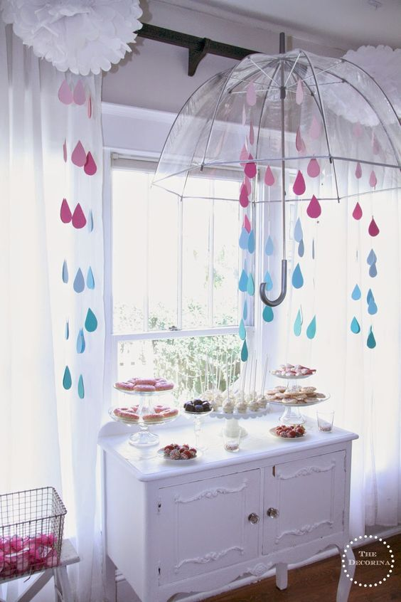 A Baby Sprinkle Shower inspired by the 'Drops of Love' baby shower invitation from tinyprints.com