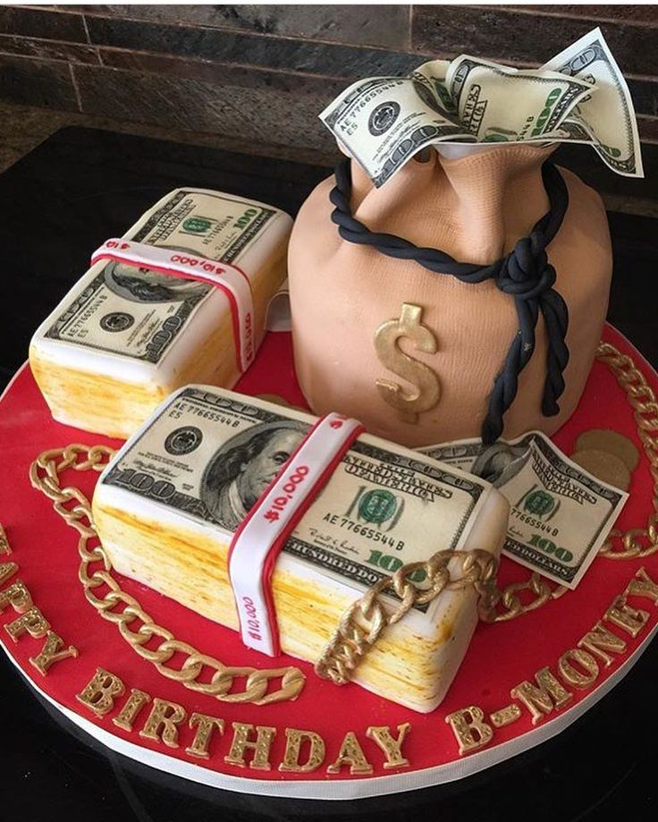 Who wouldnt want a money bag cake stuffed with edible money! By @sweetcreations_bymaggie. See the best Edible Image Designs posted daily at http://topperoo.com/edible-image-designs/