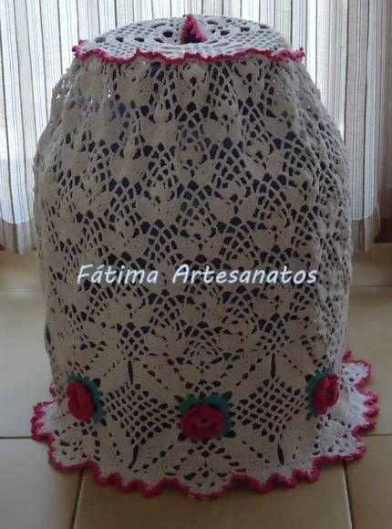 Capa para bujão em crochê.  Pode ser feito em outras cores.