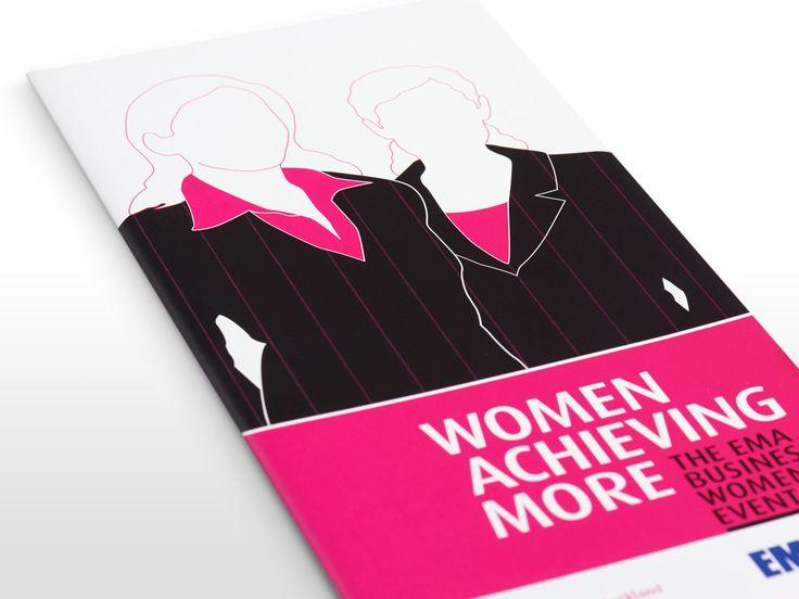 EMA Women Achieving More event brochure