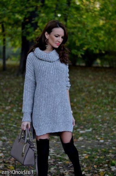 Awesome oversized turtleneck sweater dress 2017-2018
