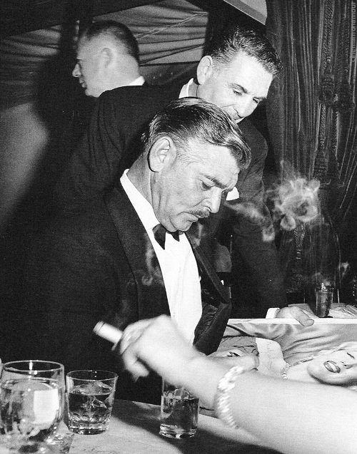 Clark Gable photographed by Sam Shaw, Hollywood 1955.