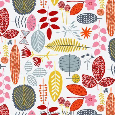 Nancy Wolff, pattern, style, fabric, illustration