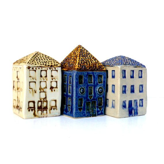 Miniature HouseCeramic Sculpture by BlueMagpieDesign on Etsy,