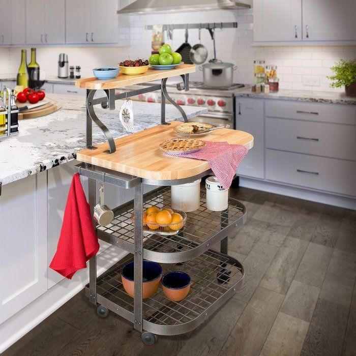 Premier Kitchen Cart With Butcher Block Top Butcher Block Top Comfortable Kitchen Kitchen Cart