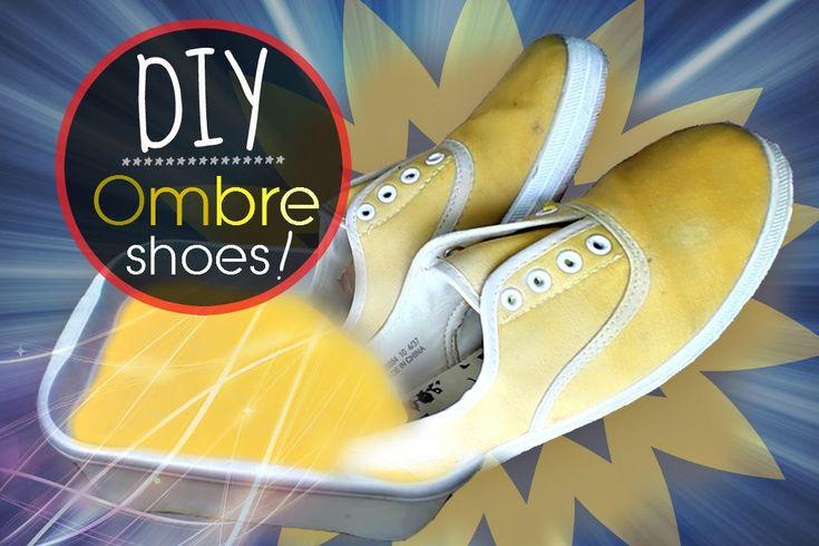 DIY: Ombre Dip Dye Shoes!
