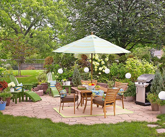 Budget patio ideas for Stone patio ideas on a budget