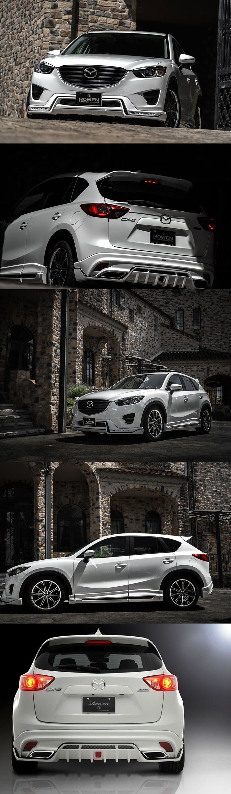 Mazda CX-5 by Rowen Rowen is a Japanese tuner with distinctively Japanese styling philosophy. This means that the cars they alter are usually significantly changed compared to the original and that they are either to be adored or despised with no middle ground in between.