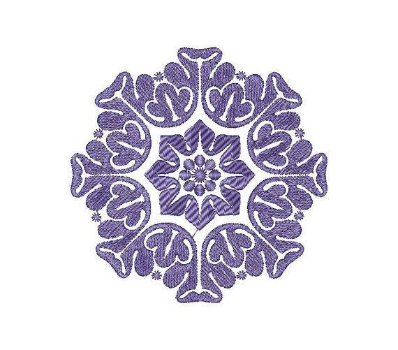 Ornament, pattern - Machine Embroidery Design - Instant Download - Three…